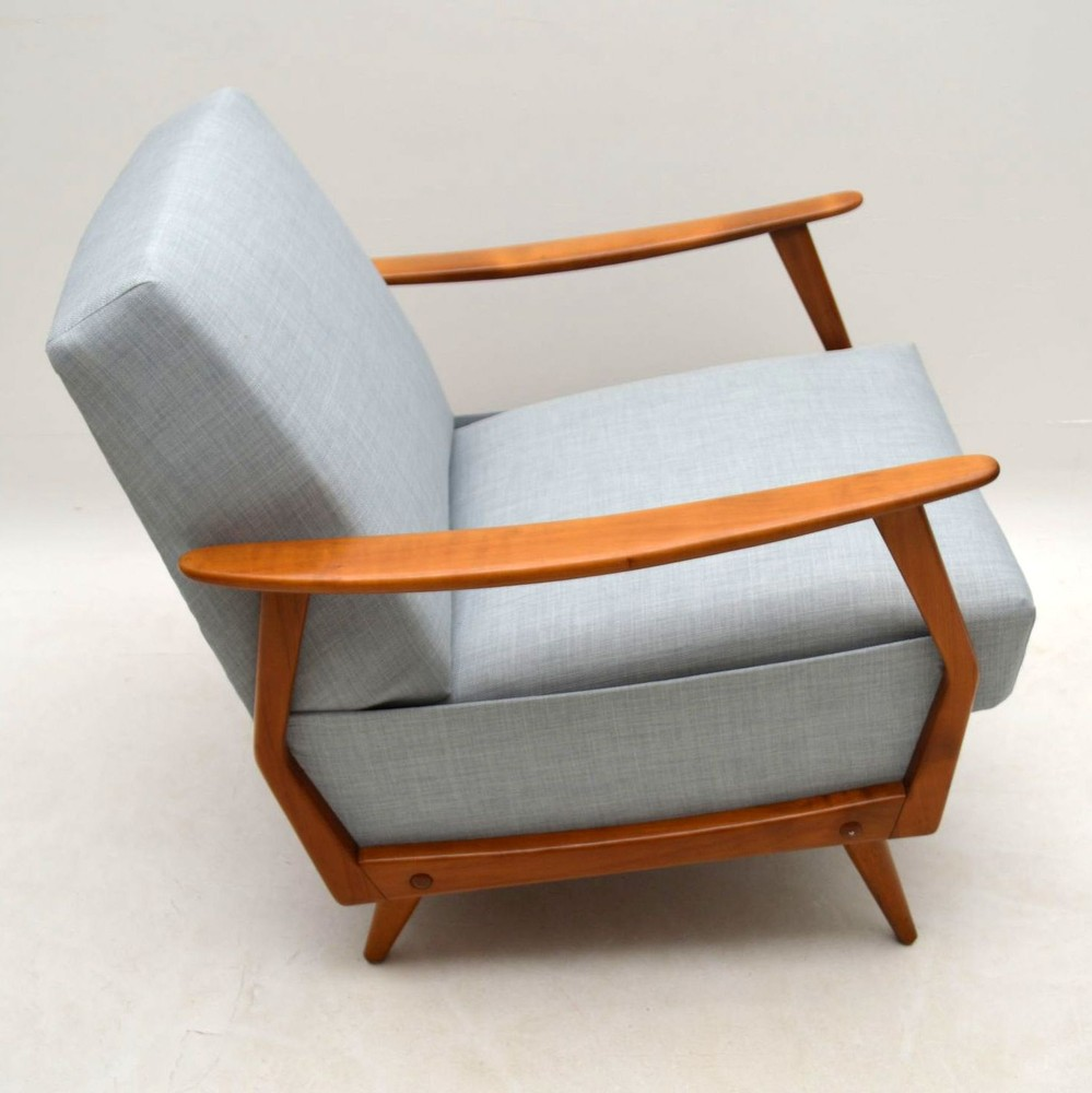 Pair Of Danish Retro Armchairs Vintage 1950'S ...