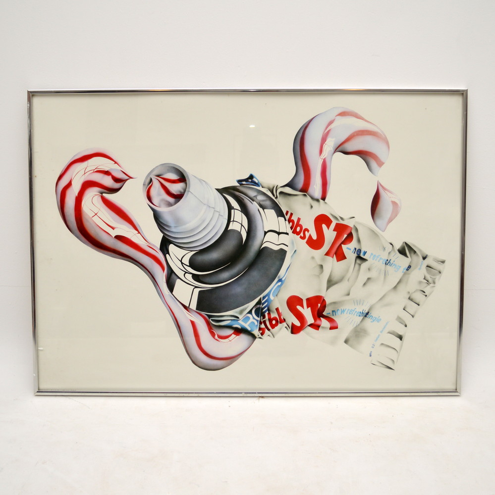 Retro SR - Toothpaste Print By Michael English