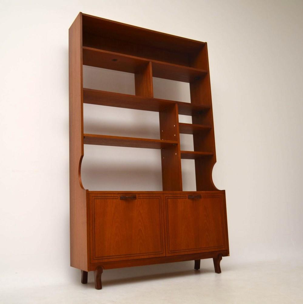 Teak Retro Bookcase Cabinet Room Divider Vintage 1960