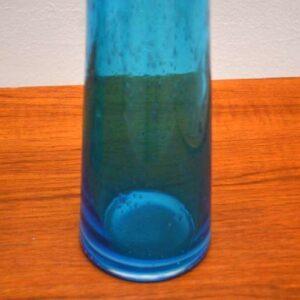 Pair of Retro Blown Glass Vases Vintage 1960's