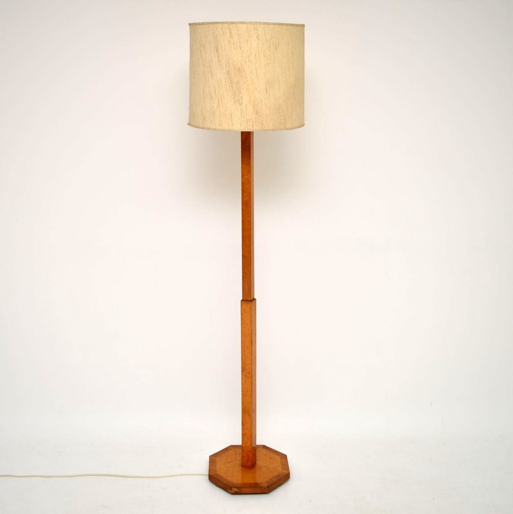 Art Deco Bird S Eye Maple Lamp Vintage 1920 S