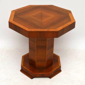 Art Deco Figured Walnut Coffee Table Vintage 1920's
