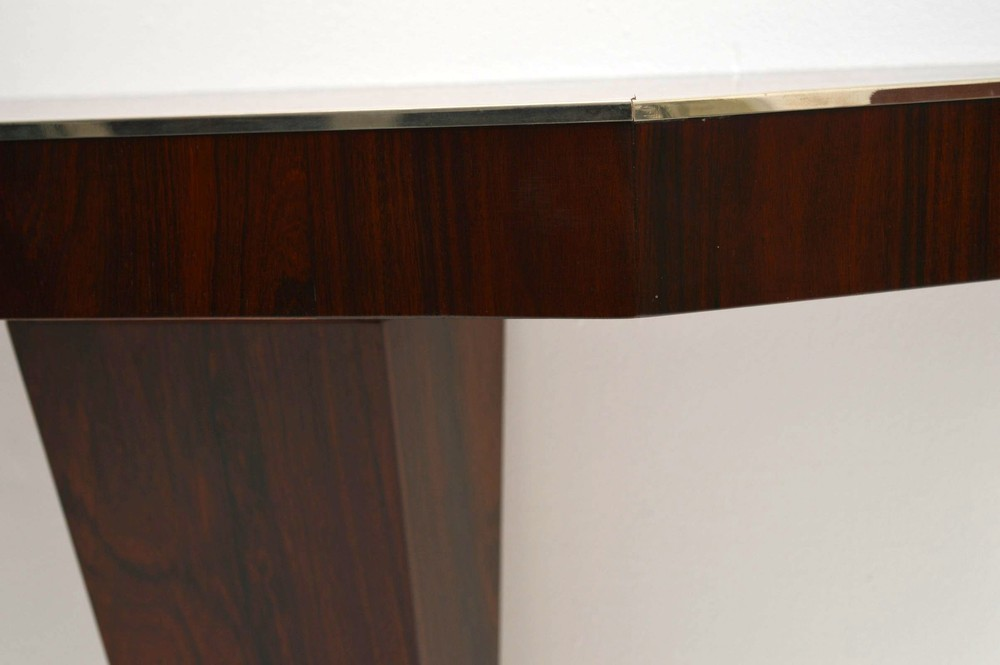 Art Deco Rosewood Console Table Vintage 1920 S
