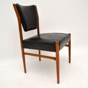 Danish Retro Leather Chair Vintage 1960's