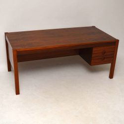 Danish Retro Rosewood Executive Desk Vintage 1960's