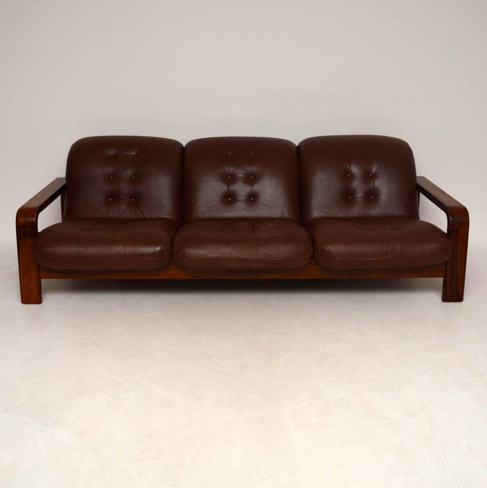 Danish Retro Rosewood Leather Sofa Vintage 1960 S Retrospective