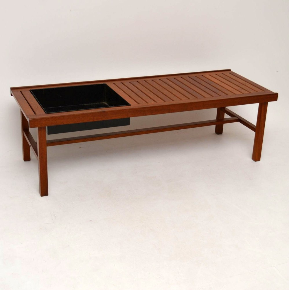 Danish Retro Teak Coffee Table Bench Planter Vintage 1960 S Retrospective