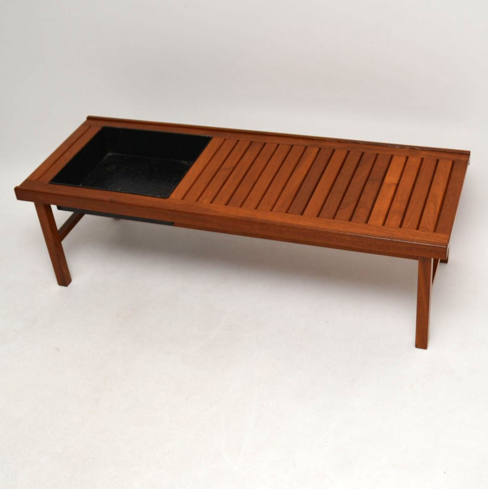 Danish Retro Teak Coffee Table / Bench / Planter Vintage