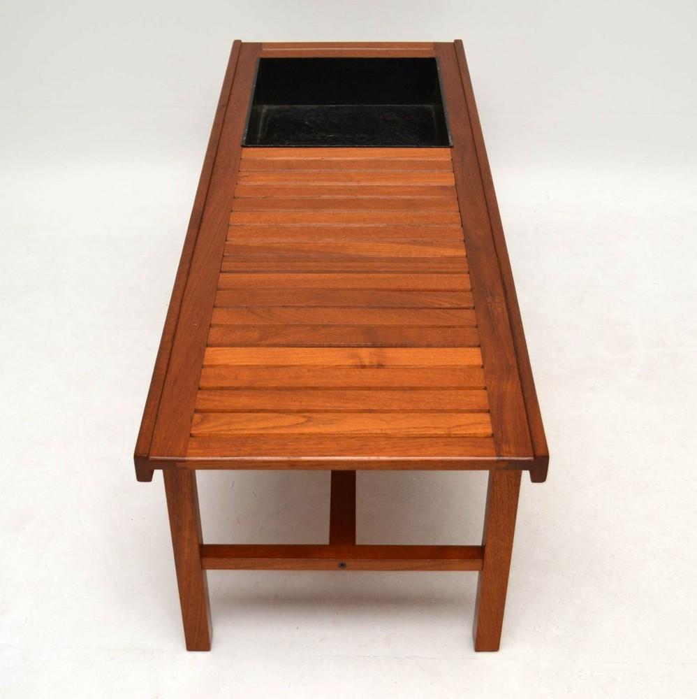 Danish Retro Teak Coffee Table / Bench / Planter Vintage ...