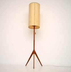 Danish Retro Teak Floor Lamp Vintage 1960's