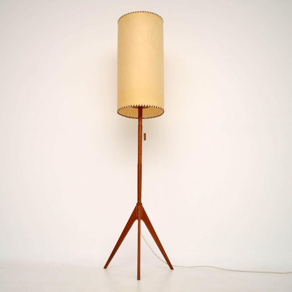 Danish Retro Teak Floor Lamp Vintage 1960 S