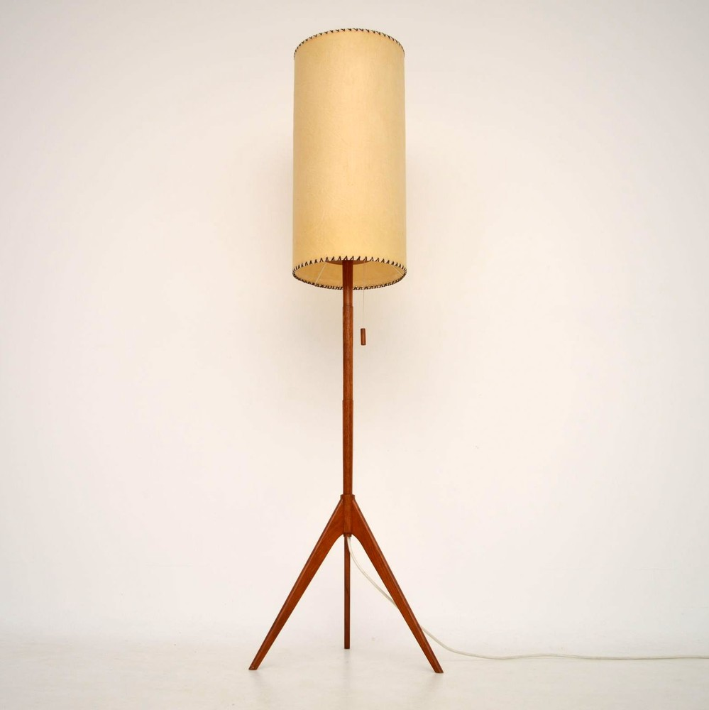 Danish Retro Teak Floor Lamp Vintage 1960 S