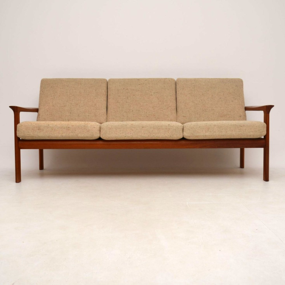 Danish Retro Teak Amp Wool Sofa By Komfort Vintage 1970 S