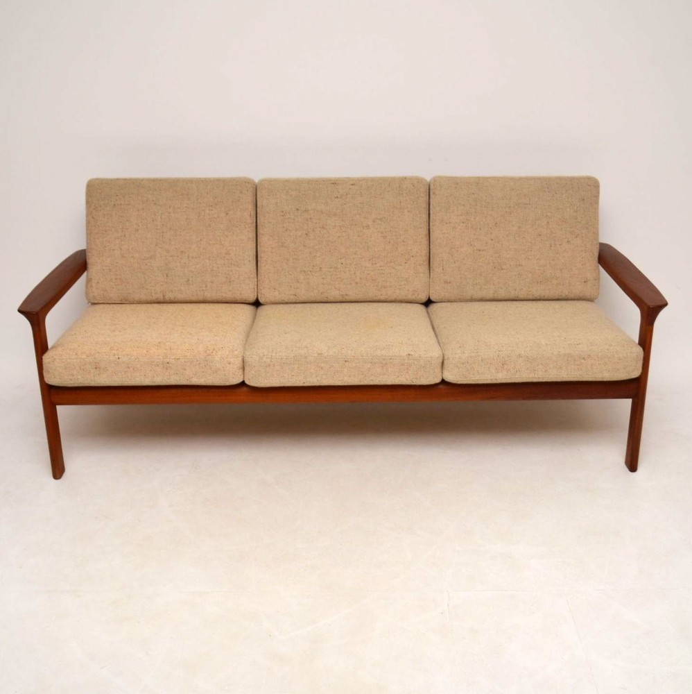 danish retro teak wool sofa by komfort vintage 1970s - Designer Couch Modelle Komfort