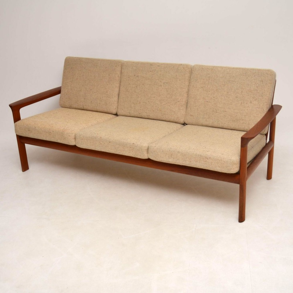 Danish Retro Teak Amp Wool Sofa By Komfort Vintage 1970 S