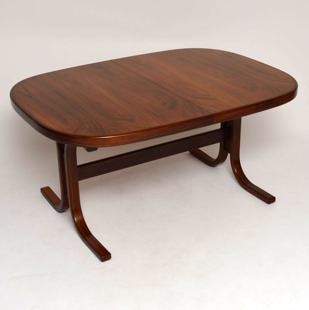 Danish Rosewood Extending Dining Table Vintage 1960'S