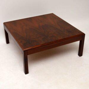 Danish Rosewood Retro Coffee Table Vintage 1960'S