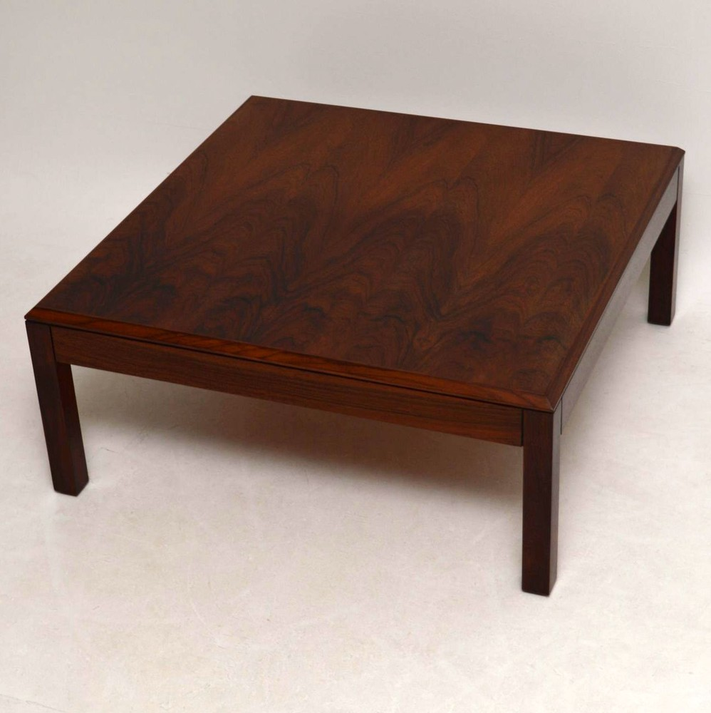 Danish Rosewood Retro Coffee Table Vintage 1960 S