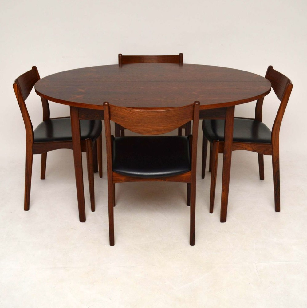 Danish Rosewood Retro Dining Table Vintage 1960 S