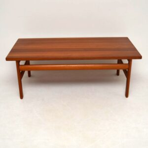 Danish Solid Teak Retro Coffee Table By Komfort Vintage 1970'S