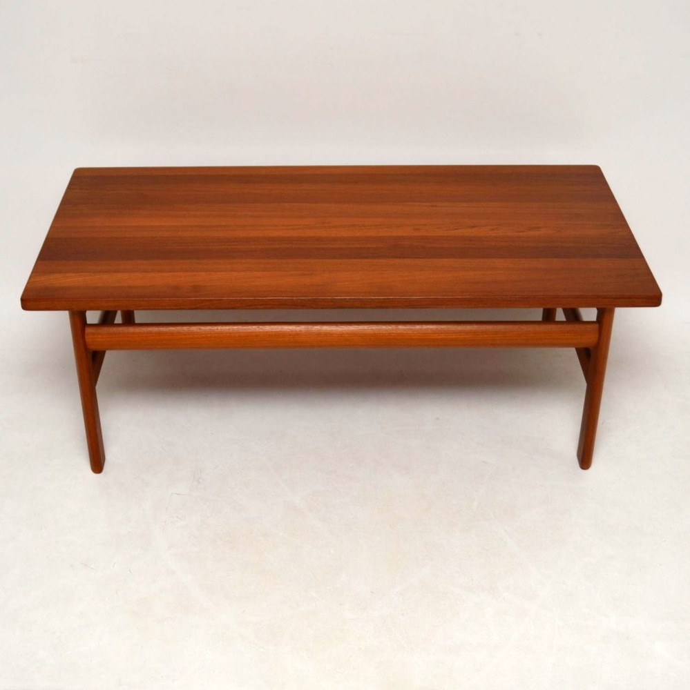 Danish Solid Teak Retro Coffee Table By Komfort Vintage ...