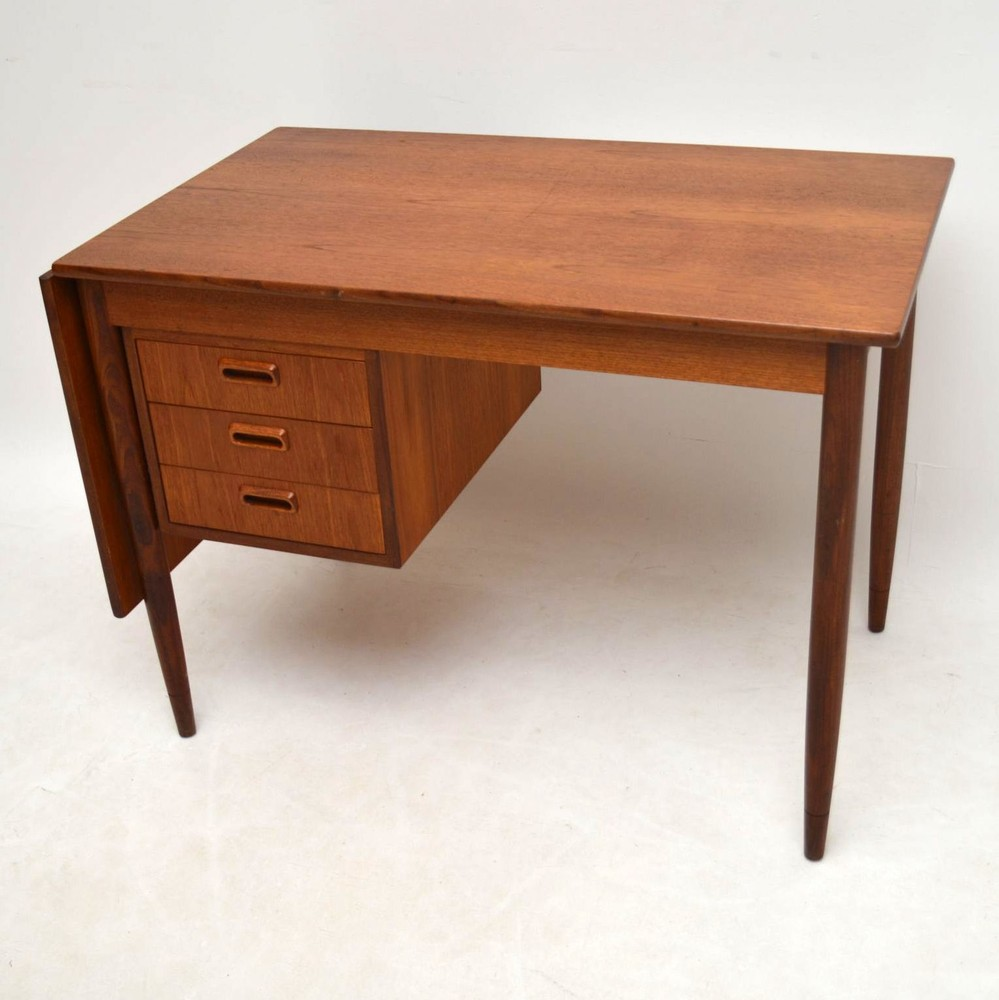 with leaf danish vintage product drawers desk drop store supply sliding modern