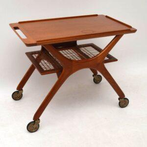Danish Teak Retro Serving Trolley / Side Table Vintage 1960'S