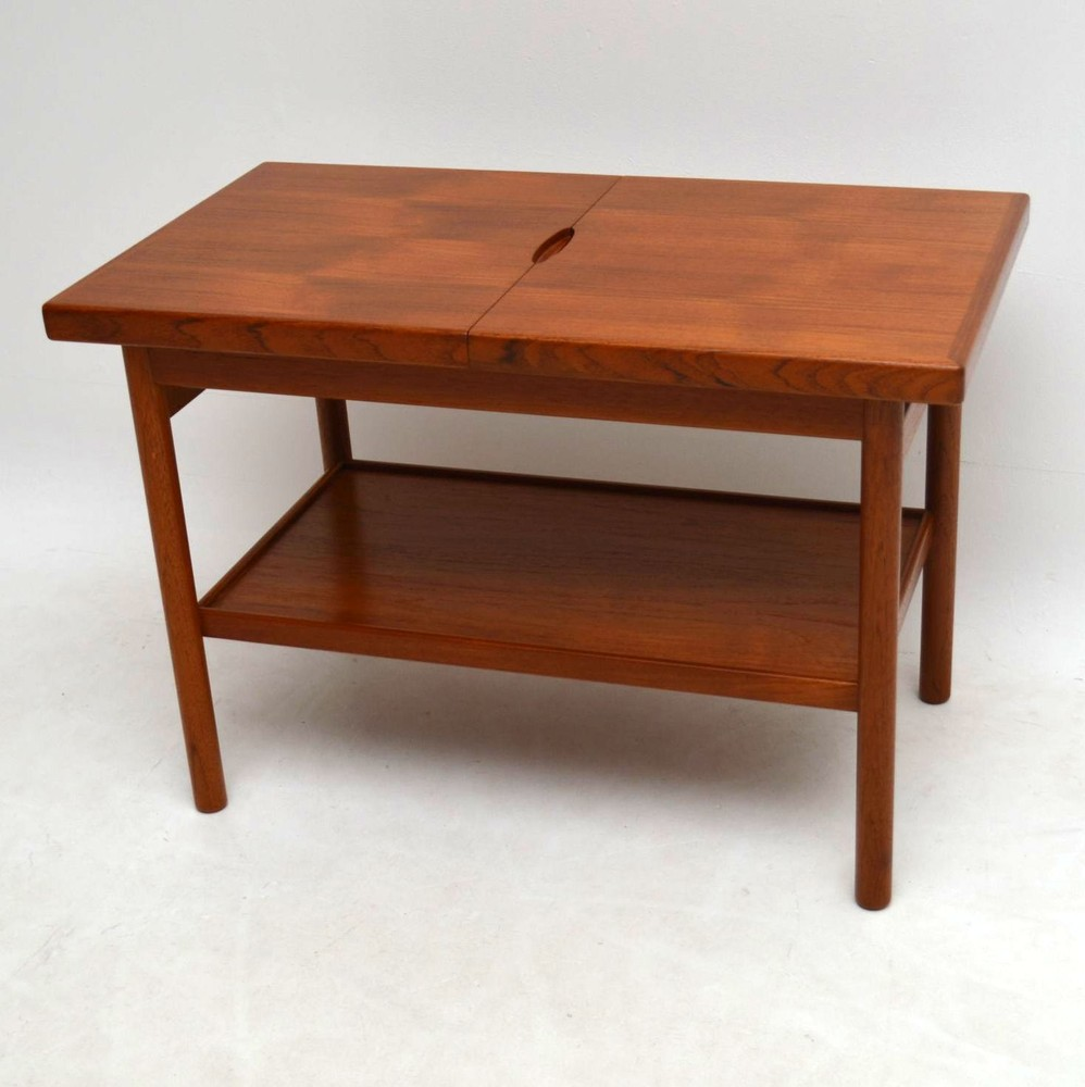 Danish teak retro side table vintage 1960 s for Retro side table