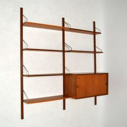 Danish Teak Royal Shelving System by Poul Cadovius Vintage 1960's