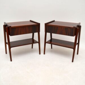 Pair Of Danish Style Rosewood Side Tables