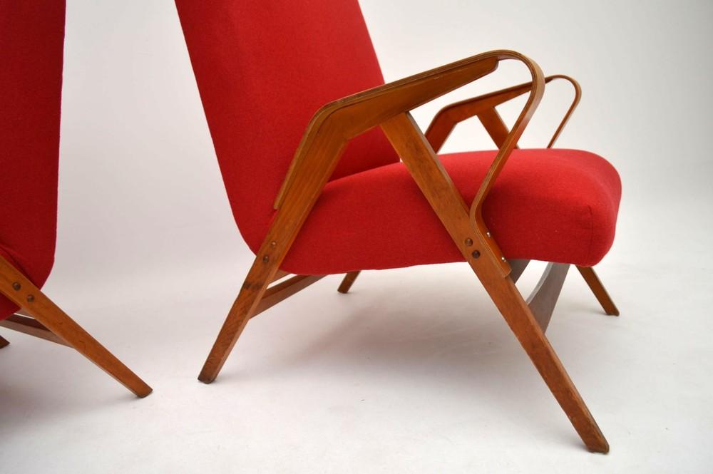 pair of retro armchairs by tatra nabytok vintage 1950 s