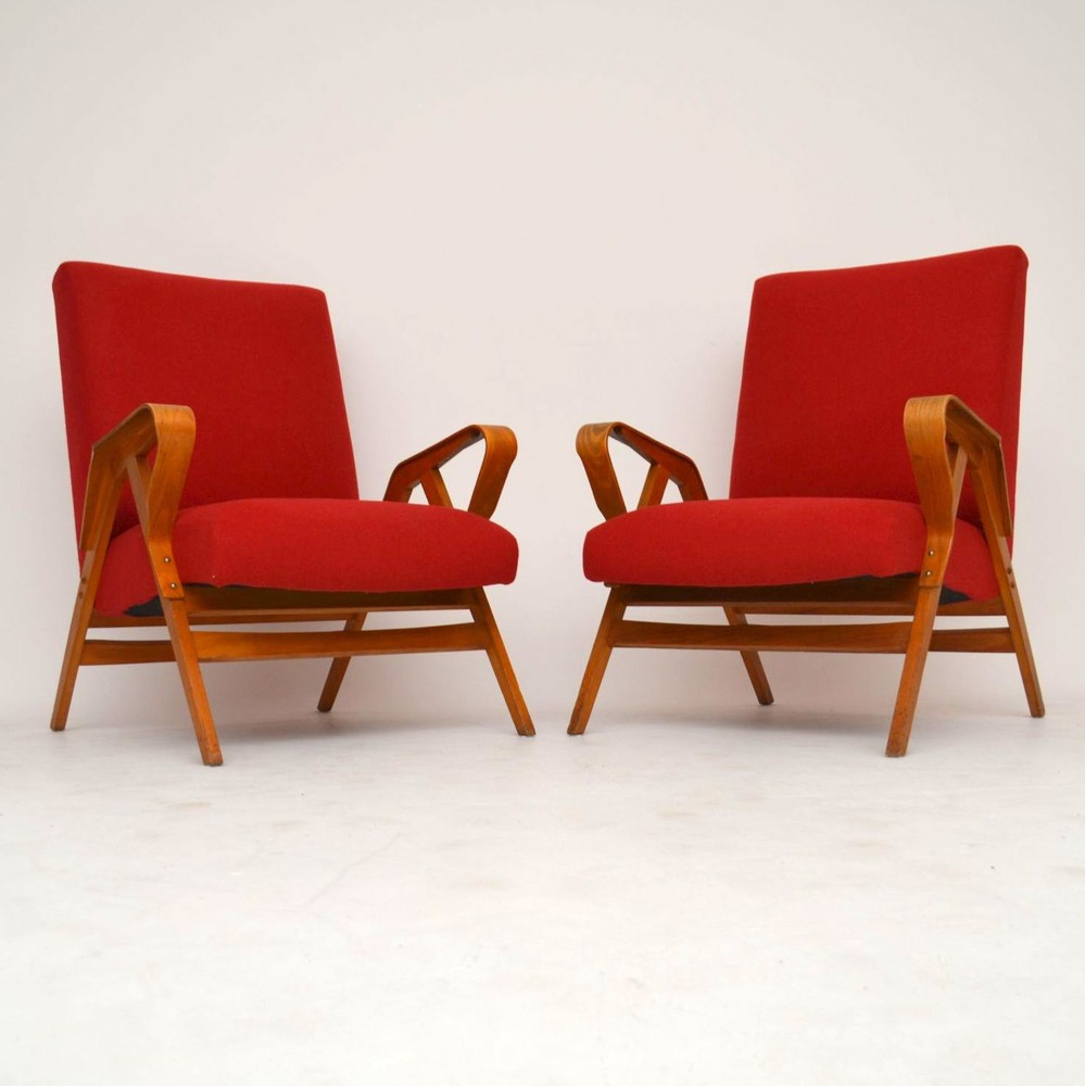 05d79ff6d8747 Pair of Retro Armchairs by Tatra Nabytok Vintage 1950's ...