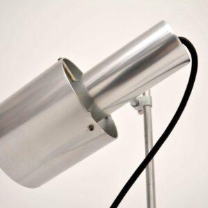 Pair of Retro Steel Table Lamps Vintage 1960's