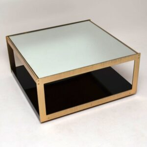 Rare Merrow Associates Retro Gold Plated Coffee Table  Vintage 1970'S