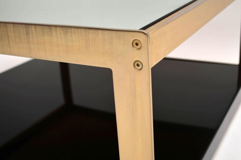 S Retro Gold Chrome Coffee Tables
