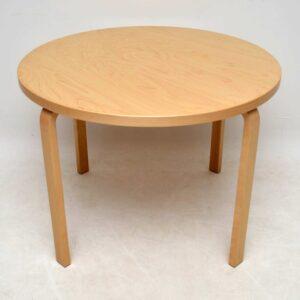Retro Birch Bentwood Dining Table By Alvar Aalto For Artek