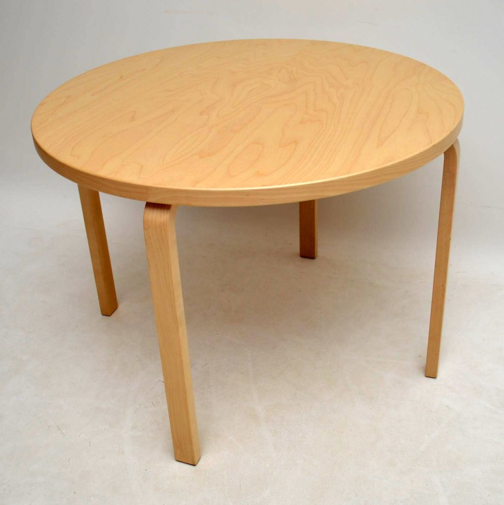 Retro Birch Bentwood Dining Table By Alvar Aalto For Artek