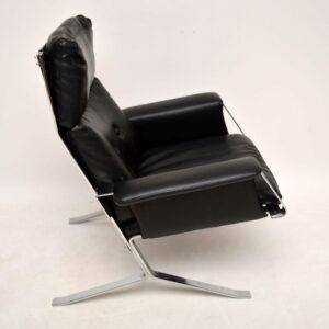Retro Chrome Armchair in the Style of Olivier Mourgue