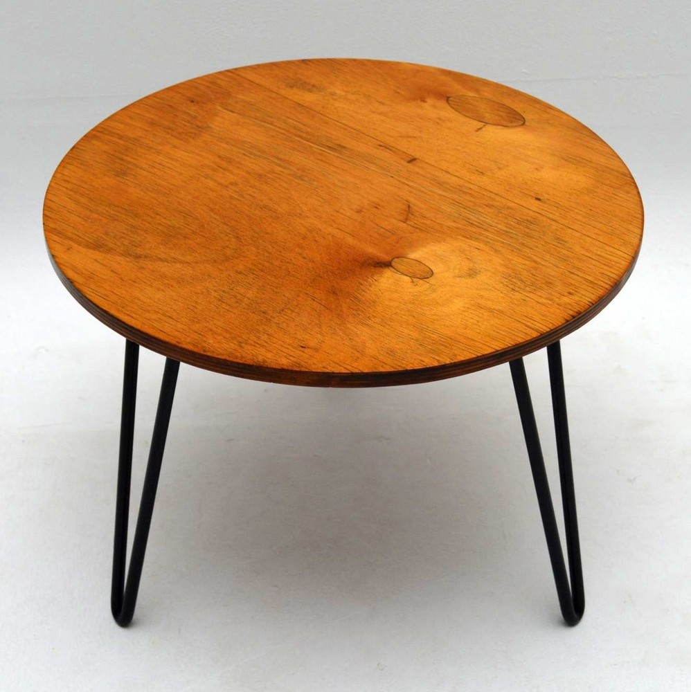 Coffee Table 1950s: Retro Coffee Table On Hairpin Legs Vintage 1950'S