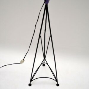 Retro Colourful woven Floor Lamp Vintage 1960's