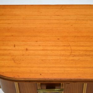 Retro Elm Side Table Vintage 1950'S