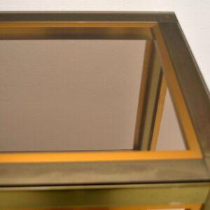 Retro Italian Brass Bookcase / Cabinet by Zevi Vintage 1970's