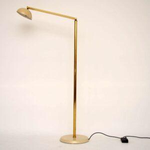 Retro Italian Brass Floor Lamp Vintage 1970's