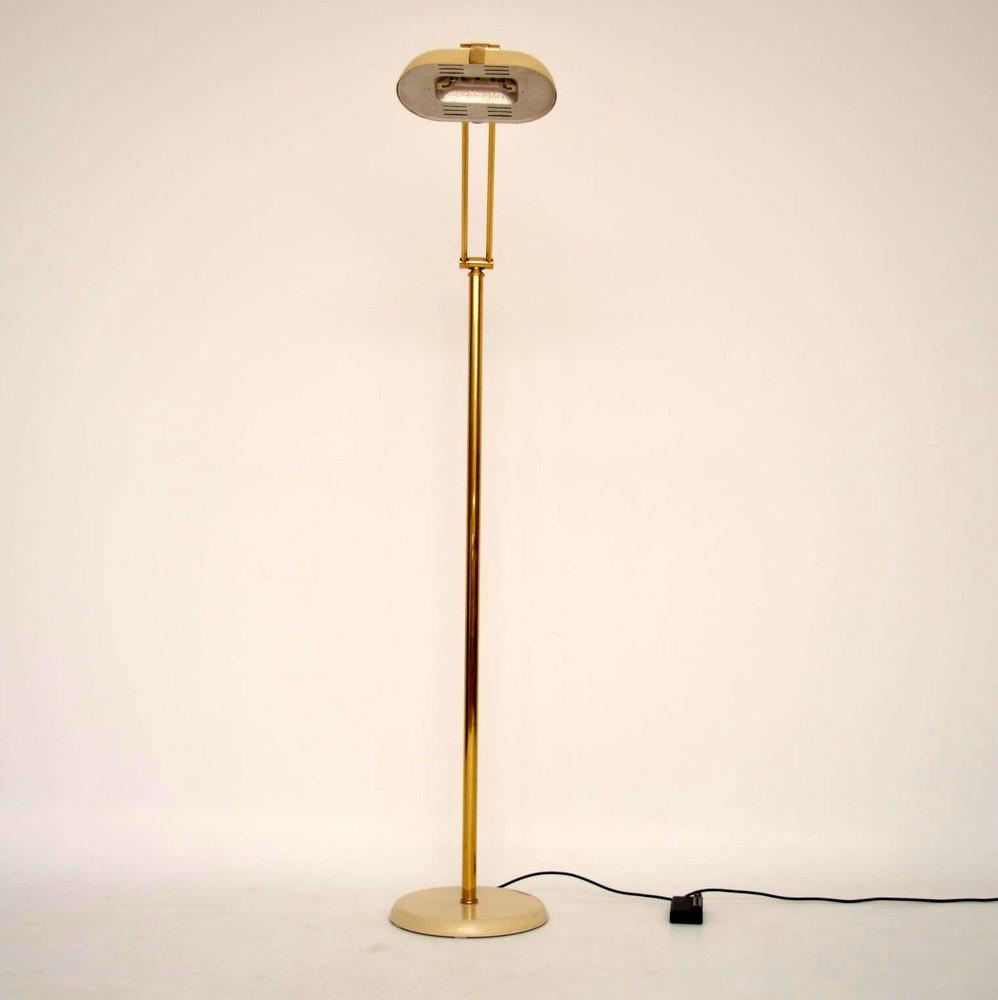 Retro Italian Brass Floor Lamp Vintage 1970 S
