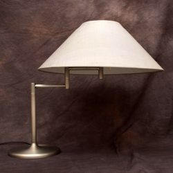 Retro Italian Brushed Steel Desk / Table Lamp Vintage 1960's