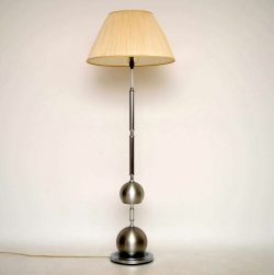 Retro Italian Brushed Steel Lamp Vintage 1960's