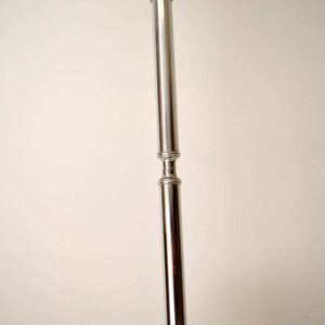 Retro Italian Brushed Steel Lamp Vintage 1960's