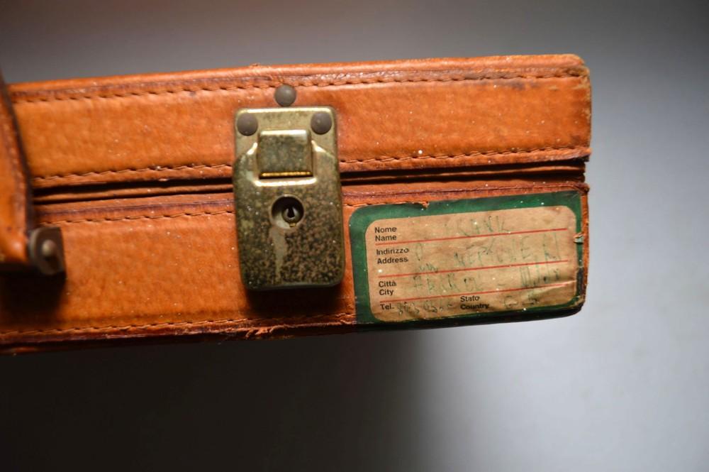 Retro Italian Leather Briefcase Vintage 1960 S