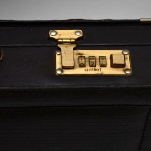 Retro Leather Briefcase by Paco Rabanne Vintage 1970's