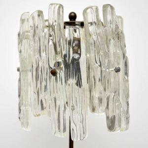 Retro Lucite & Brass Lamp Vintage 1960's